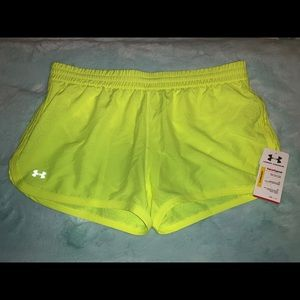 Brand New! Under Armour shorts with briefs-yellow